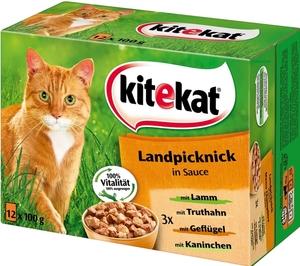 Kitekat Landpicknick in Sauce Katzenfutter nass Multipack 12x 100 g
