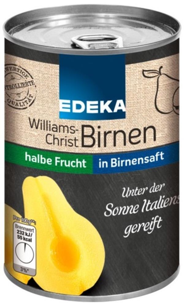EDEKA Williams-Christ Birnen in Traubensüße halbe Frucht  410 g