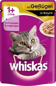 Whiskas 1+ mit Geflügel in Sauce Katzenfutter nass Beutel 100 g