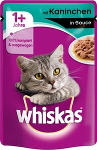 Whiskas 1+ mit Kaninchen in Sauce Katzenfutter nass Beutel 100 g
