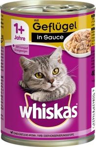 Whiskas 1+ mit Geflügel in Sauce Katzenfutter nass Dose 400 g