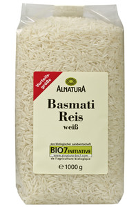Alnatura Bio Basmati Reis weiß groß 1 kg
