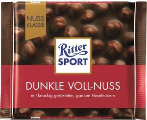 Ritter Sport Dunkle Voll-Nuss mit Zartbitter 100 g