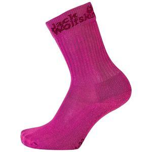 Jack Wolfskin Kinder Socken Kids Casual Organic Classic 2X 31-33 violett