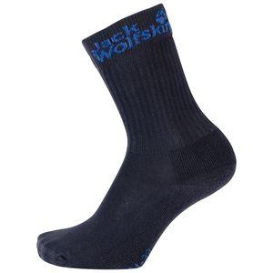 Jack Wolfskin Kinder Socken Kids Casual Organic Classic 2X 31-33 blau