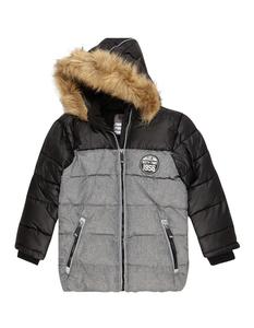 Jungen Outdoor-Jacke mit abnehmbarer Kapuze
