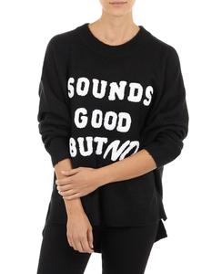 Damen Pullover mit Message-Flockprint