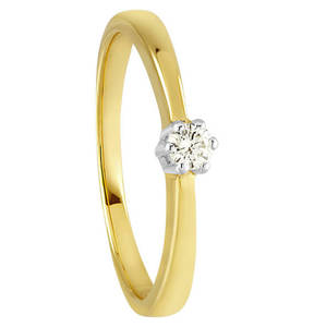 Moncara             Diamant-Ring Gold 375, zus. ca. 0,10 ct.