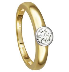 Moncara             Diamantring 585 Gelbgold, ca. 0,25 ct.