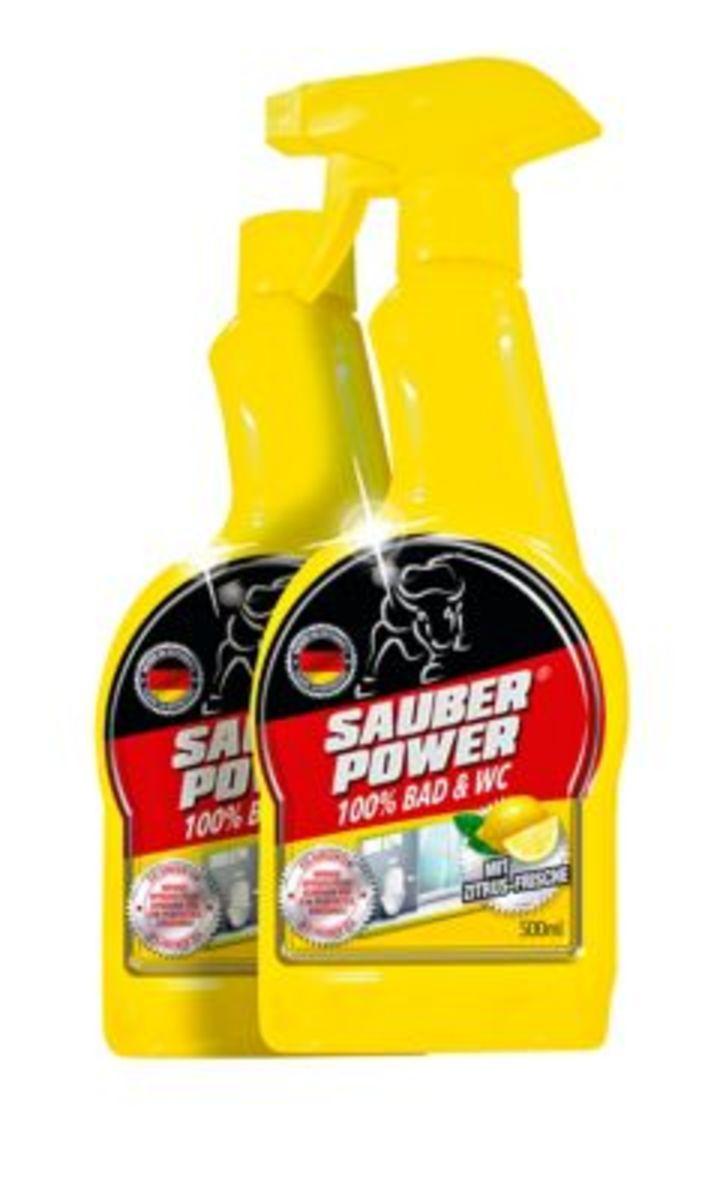 Bild 1 von Sauber Power 100% Bad & WC, Reinigungs-Set