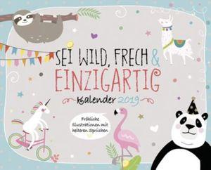 Wild,frech&ein. Kalender-Set 2019, 8tlg.