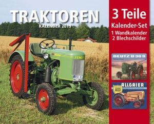 Traktoren Kal. 2019  + 2 Blechschilder