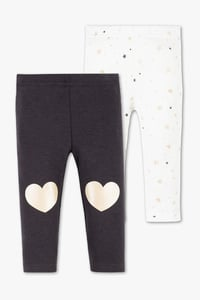 Baby Club         Baby-Leggings - 2er Pack - Glanz Effekt