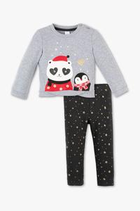 Baby Club         Baby-Outfit - Bio-Baumwolle - 2 teilig - Glanz Effekt