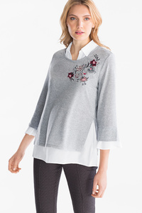 Canda         Pullover - Feinstrick - 2-in-1-Look