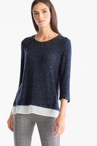 Canda         Pullover - 2-in-1 Look - Glanz Effekt