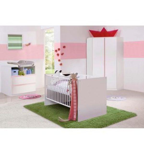 Komplett Babyzimmer »Rimini« Babybett + Wickelkommode + Eckschrank ...