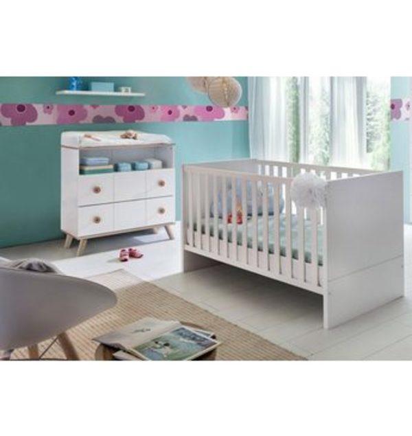 Babyzimmer Spar Set Cannes Babybett Wickelkommode 2 Tlg In