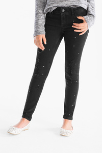 Here and There         THE SUPER SKINNY JEANS - extra-weiter Bund - Glanz Effekt
