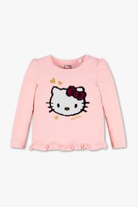 Hello Kitty - Langarmshirt - Glanz Effekt