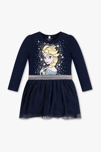 Disney Girls         Die Eiskönigin - Kleid -  Bio-Baumwolle - Glanz Effekt
