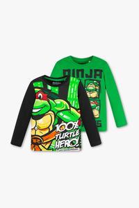 Ninja Turtles - Langarmshirt - Bio-Baumwolle - 2er Pack