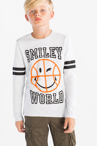 Here and There         Smiley World - Langarmshirt