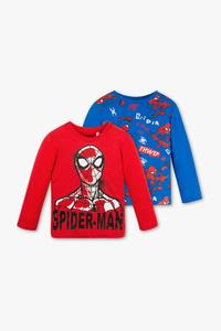 Disney Boys         Spider-Man - Langarmshirt - Bio-Baumwolle - 2er Pack