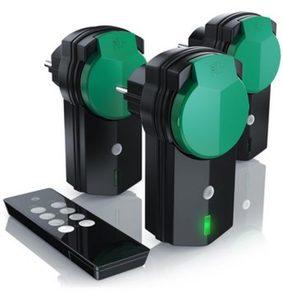 Bearware Funksteckdosen Set für den Außenbereich »3x Funkschalter Steckdosen, mit Fernbedienung«