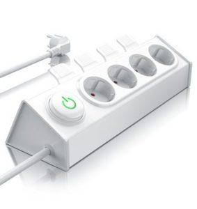 Bearware 4-fach Steckdosenleiste mit Auswurfautomatik »Hebel zum einfachen Auswerfen von Steckern«