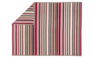 Ibena - Wohn- und Schlafdecke Arona in natur/rot, 150 x 200 cm