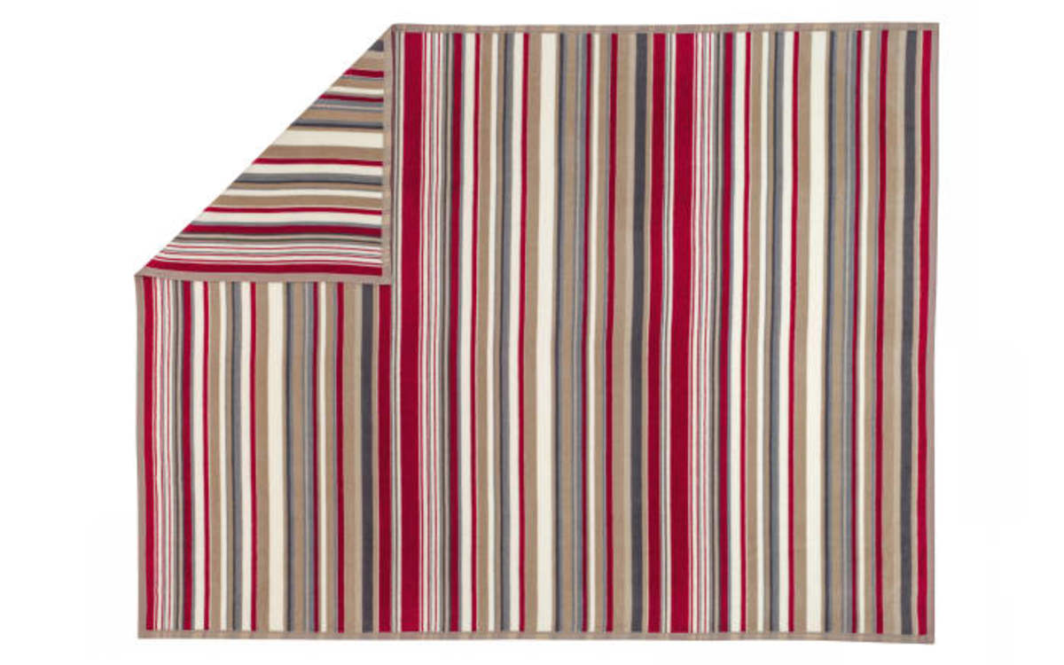 Bild 1 von Ibena - Wohn- und Schlafdecke Arona in natur/rot, 150 x 200 cm