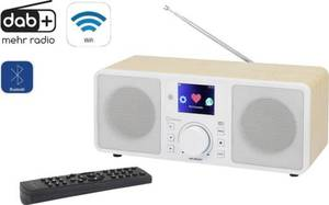 Renkforce RF-IRDAB-RETRO1 Internet, DAB+, UKW Tischradio AUX, Bluetooth®, Internetradio, DAB+, WLAN, LAN DLNA-fähig Holz