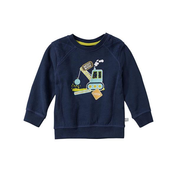 Liegelind Baby-Jungen-Sweatshirt mit Baustellen-Fahrzeug