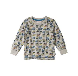 Liegelind Baby-Jungen-Shirt mit Fahrzeug-Muster