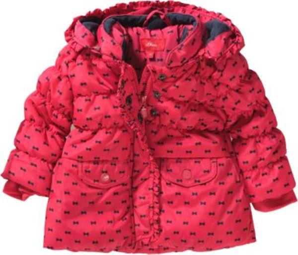 Winterjacke mit Polarfleecefutter und Schleifen-AOP Gr. 74 Mädchen Baby