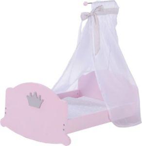 Puppenbett Wiege Prinzessin Sophie, rosa