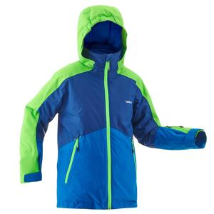 Skijacke 580 Kinder blau/grün