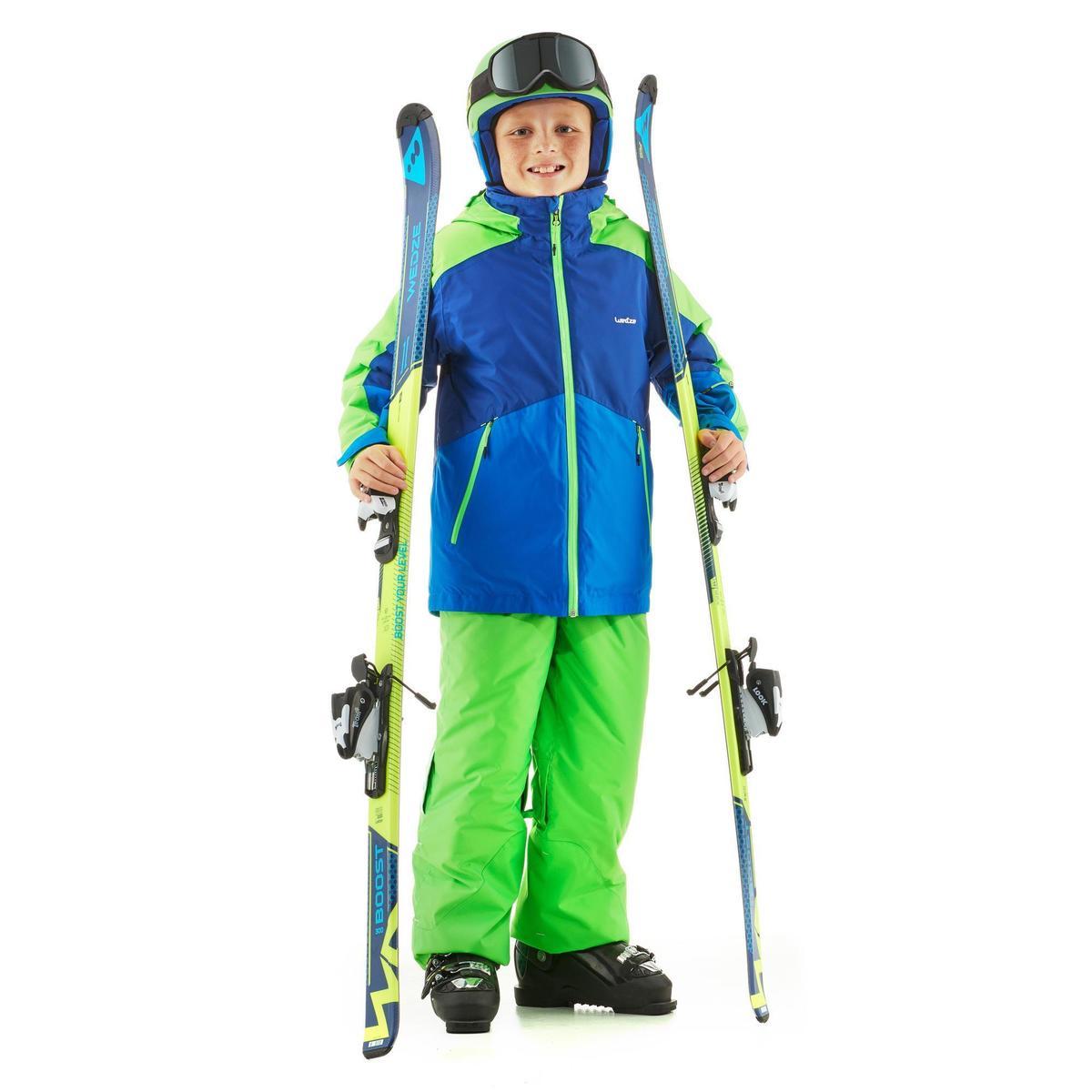Bild 2 von Skijacke 580 Kinder blau/grün
