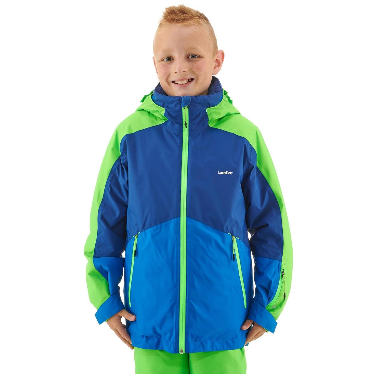 Bild 3 von Skijacke 580 Kinder blau/grün