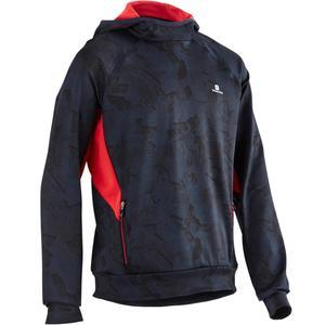 Kapuzensweatshirt S900 Gym Kinder blau/rot