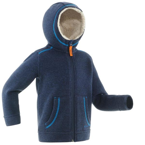 Fleecejacke Winterwandern SH100 Warm Kinder marine