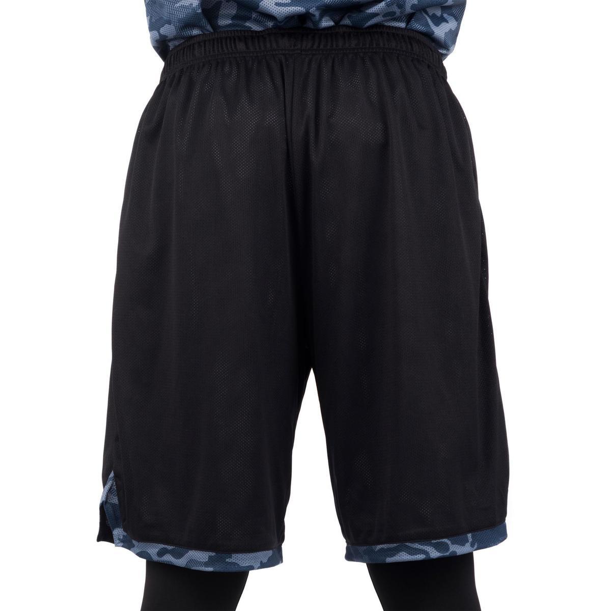 Bild 5 von Basketball Wendeshorts Herren schwarz/camouflage grau