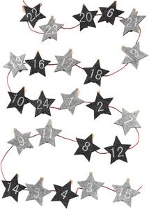 """Adventskalender """"Sterne"""" mit Klammern"""