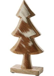 Holz Tannenbaum mit Kuhfell