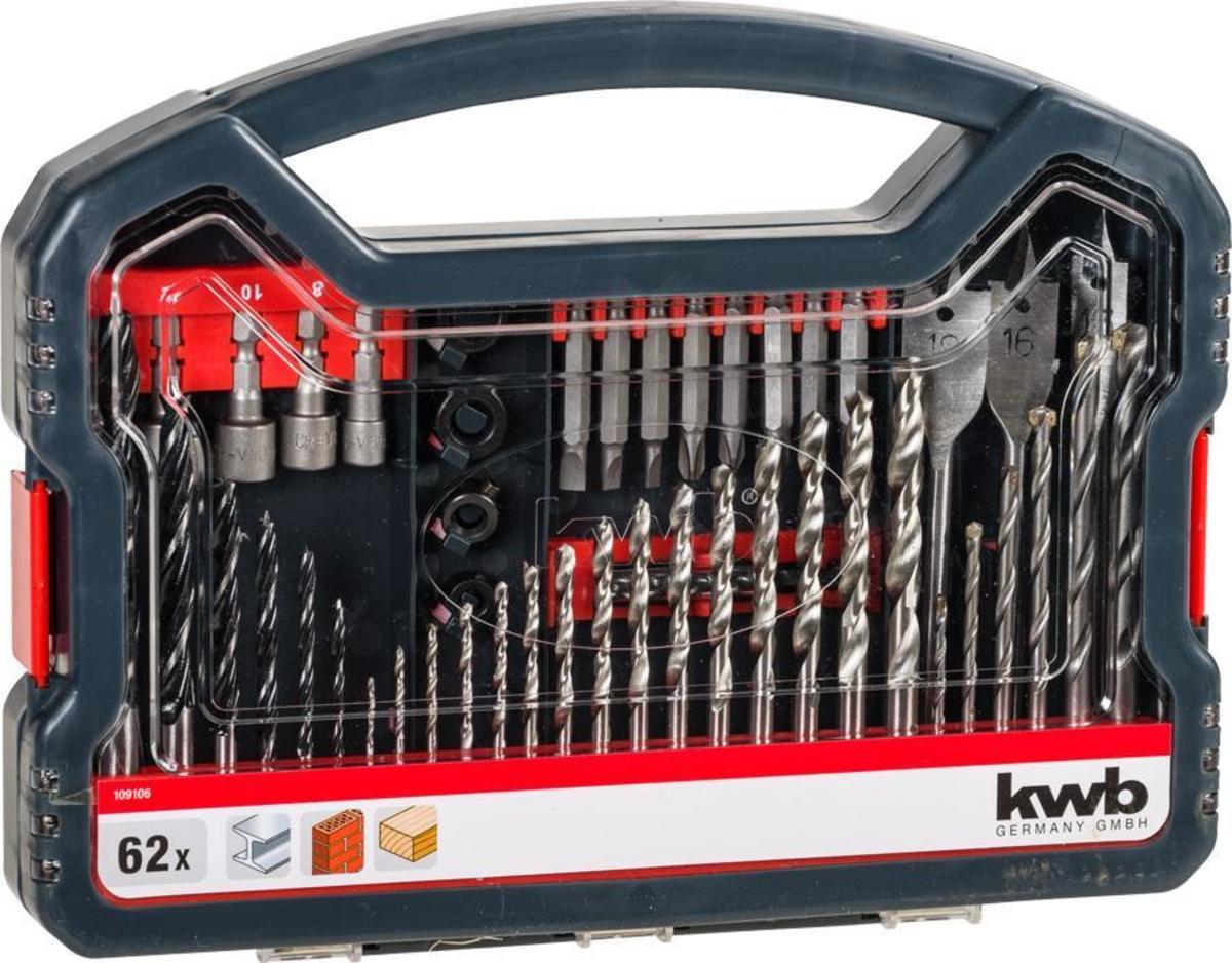 Bild 1 von kwb Power-Box 62-tlg. Bohrer- und Bitset