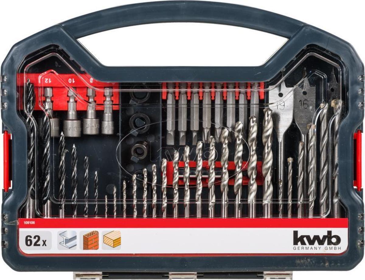 Bild 2 von kwb Power-Box 62-tlg. Bohrer- und Bitset