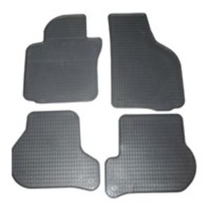 Schönek Passform Gummimatten Komplettset, Auto Fußmatten Seat Arona SUV (KJ71/72/74/75/KJ) / Ibiza VIII  (KJ11/12/14/15/KJ) und VW Polo X (AW12/13/14/AW), 4-teilig