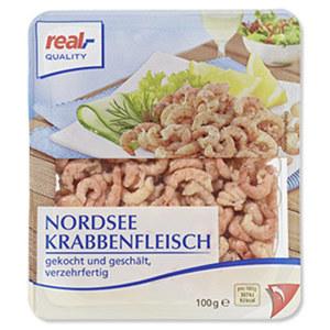 Nordseekrabbenfleisch jede 100-g-Packung