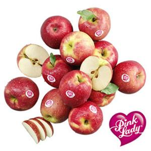 """Frankreich Tafeläpfel """"Pink Lady"""" Kennzeichnung siehe Etikett, jede 600-g-Packung"""